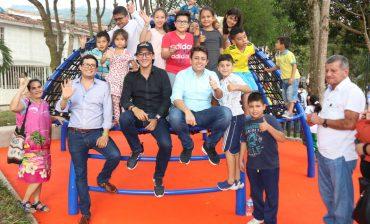 Los habitantes de Hacienda San Juan ya disfrutan a plenitud del Retazo Urbano construido por el AMB en el sector limítrofe entre Floridablanca y Bucaramanga