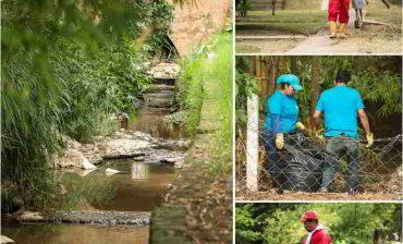 """Limpia y """"revitalizada"""" quedó quebrada Aranzoque de Piedecuesta luego de jornada ambiental liderada por el AMB"""