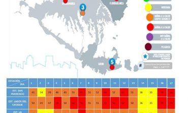 En cuatro de las cinco estaciones del AMB para medición de calidad del aire aumentaron las concentraciones de material particulado PM 2.5, según el monitoreo del 17 de marzo