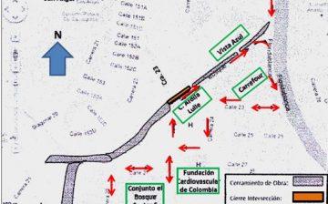 Cierre total de intersección vial de urgencias Foscal para finiquitar construcción de Transversal del Bosque