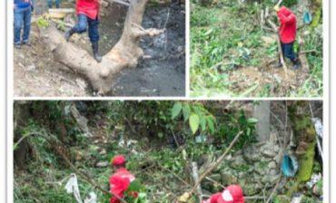 En acción conjunta interinstitucional AMB lidera operativo de limpieza y prevención en la quebrada Las Hamacas