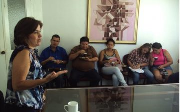 Reunión con los 'parqueros' en el Área Metropolitana de  Bucaramanga.