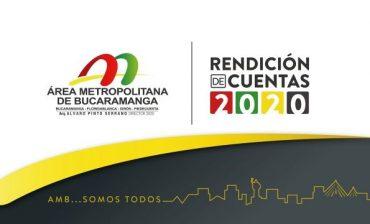 El Director General del Área Metropolitana de Bucaramanga presentó la Rendición de Cuentas de la Entidad por la vigencia del año 2020, durante audiencia pública trasmitida por Facebook