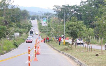 Avanzan obras complementarias y reparación de hundimientos en el tramo 2 de la Transversal El Bosque, con plan de manejo de tráfico incluido
