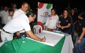 El Área Metropolitana de Bucaramanga y la Alcaldía de Girón entregaron tres importantes obras bajo la estrategia de Retazos Urbanos.