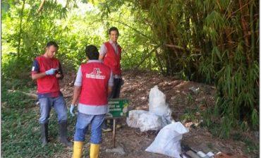 700 kilos de residuos sólidos fueron recolectados en jornada ambiental del AMB en la quebrada Suratoque de Floridablanca